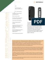 Motorola SB5102 Data Sheet