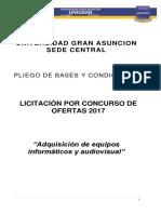 Pliego Concurso de Ofertas - Adquisicion de Equipos Informaticos y de Audiovisual