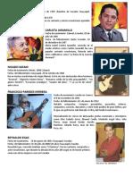CANTANTES ECUATORIANOS FALLECIDOS