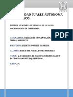 Derecho Al Medio Ambiente Sano y Ecologicamente Equilibrado..