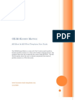 General Electric GE McKinsey Matrix User Guide