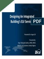 4. BICSI NG 15 Designing Integrated ELV Services OIukayode Sodimu