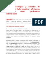 Lesión Psicológica y Criterios de Imputación Daño Psíquico y Afectación Psicológica Como Parámetros Diferenciale1