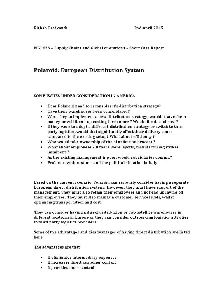 264573044-Polaroid-Case-study docx   Logistics