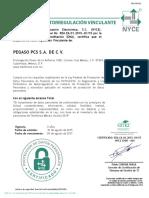 Certificado de Esquema de Autorregulación Vinculante