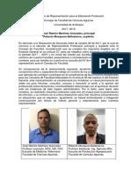 Propuesta de Representación Profesoral FCA 2017-2019