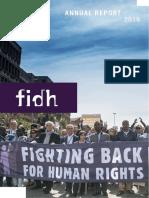 FIDH ANNUAL REPORT 2016