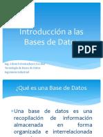 1. Introduccion a Las Bases de Datos