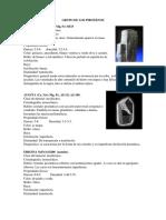 Descripcion Macroscopica de Minerales