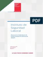 Diptico DIEP Instituto de Seguridad Laboral