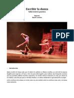 Curso Escribir La Danza