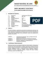 Silabo Subestaciones Electricas v1 2017i
