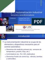 AUTOMATIZACION - Sensores y Acondicionadores