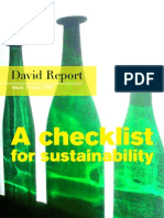 Check List for Sustainability