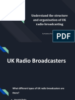 understand the structure and organisation of uk radio broadcasting