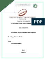 ACTIVIDAD N° 06 - ACTIVIDAD DE INFORME DE TRABAJO COLABORATIVO