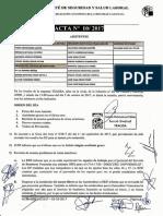 Acta 10/2017 Comité Seguridad y Salud Laboral Tragsa UT2 Comunitat Valenciana