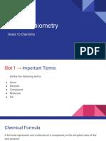 C4 - Stoichiometry