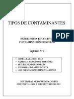 2 - Contaminación de Suelos - Tipos de Contaminación
