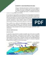 Fuentes de Abastecimiento y Usos Industriales de Agua