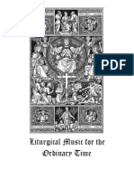 Liturgical Music for the Ordinary Time