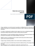 Materials and Energy Balance - Charge Calculations in Pyrometallurgical Processes