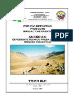 Tomo II Expediente Tecnico Presa Llancopi Actualizado