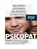 PSicopatía y trastornos afines