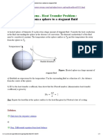 Heat Conduction From a Sphere to a Stagnant Fluid