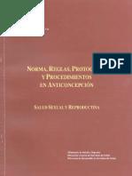 Normas Reglas y Proto ANTICONCEPCION