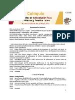 Coloquio Impactos de la Revolución Rusa en México y América Latina