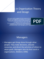 Concepts in Oganization Theory and Design (2)