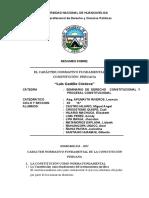 EL CARÁCTER NORMATIVO FUNDAMENTAL DE LA CONSTITUCIÓN PERUANA