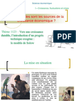 correctionthème 1123- Le progrès technique exogène - analyse de Solow.ppt