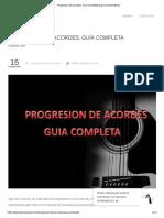 Progresion de Acordes_ Guía Completa Para Comprenderla