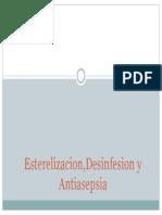 Esterelizacion,Desinfesion y Antiasepsia