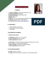 Currículo Jeleiny Marquez