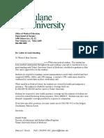 Letter of Good Standing