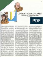 Afrika Korps AH Boardgame - Variant Opreation Compass Gen 22 1