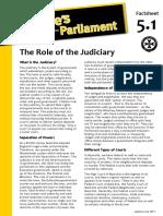 Factsheet 5.1 RoleOfTheJudiciary