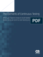 The Elements of Continuous Testing Updated
