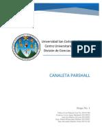 Canaleta Parshall Inv