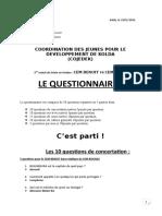 Questionnaire Cem Benoit vs Cem Bouna
