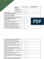 Lista de chequeo auditoria