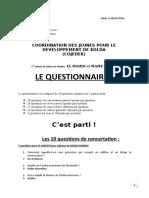 Questionnaire El Mahdi vs Mame Diarra