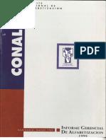 CONALFA, Guatemala, Informe Gerencial de ALfabetización, 1998.