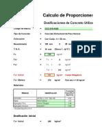 Calculo de Proporciones - Concreto Con Caída