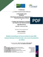 Modèles Biocinétiques de Boues Activées de Type ASM - Analyse Théorique Et Fonctionnelle, Vers Un Jeu de Paramètres Par Défaut__hauduchelene_phd