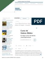 Los Bautismos Apóstatas _ Recursos Adventistas