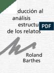 Roland Barthes Introduccion Al Analisis Estructural de Los Relatos